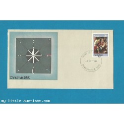 AUSTRALIA CHRISTMAS STAMP 1980 FIRST DAY COVER FDC