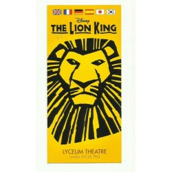 DISNEY THE LION KING THEATRE ADVERTISING LYCEUM THEATRE LONDON
