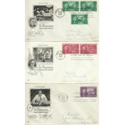 UNITED STATES ONE 1 TWO 2 AND THREE 3 CENT ROOSEVELT FIRST DAY COVERS 1945
