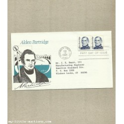 UNITED STATES ALDEN PARTRIDGE FIRST DAY COVER 1985