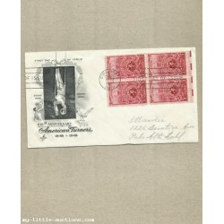 UNITED STATES AMERICAN TURNERS FIRST DAY COVER 1948